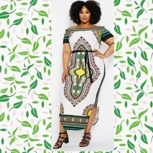 NWT Ashley Stewart African Dashiki Dress